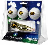 Grambling State Tigers Gold Crosshair Divot Tool & 3 Golf Ball Gift Pack