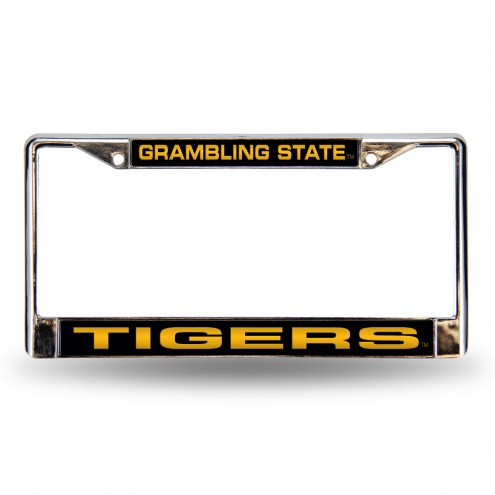 Grambling State Tigers Laser Chrome License Plate Frame