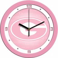Grambling State Tigers Pink Wall Clock