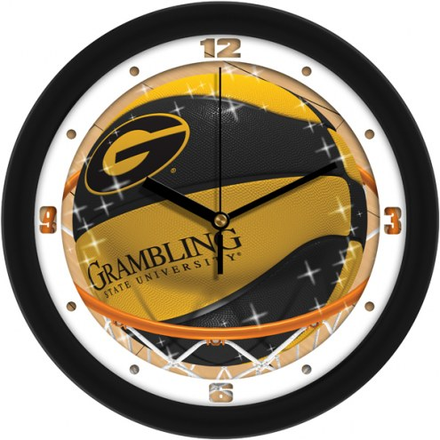 Grambling State Tigers Slam Dunk Wall Clock