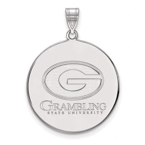 Grambling State Tigers Sterling Silver Extra Large Disc Pendant