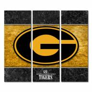 Grambling State Tigers Triptych Double Border Canvas Wall Art