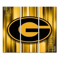Grambling State Tigers Triptych Rush Canvas Wall Art