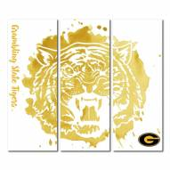 Grambling State Tigers Triptych Watercolor Canvas Wall Art