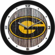 Grambling State Tigers Weathered Wood Wall Clock