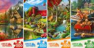 Great Outdoors 4 Puzzle Assortment 500 Piece Puzzles