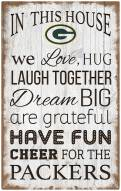 """Green Bay Packers 11"""" x 19"""" In This House Sign"""