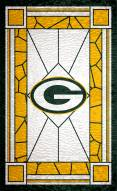 """Green Bay Packers 11"""" x 19"""" Stained Glass Sign"""