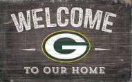 """Green Bay Packers 11"""" x 19"""" Welcome to Our Home Sign"""