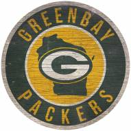 """Green Bay Packers 12"""" Circle with State Sign"""