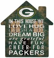 """Green Bay Packers 12"""" House Sign"""