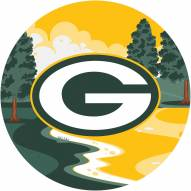 """Green Bay Packers 12"""" Landscape Circle Sign"""