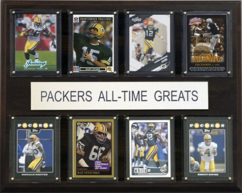"Green Bay Packers 12"" x 15"" All-Time Greats Plaque"