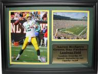 """Green Bay Packers 12"""" x 18"""" Aaron Rodgers Photo Stat Frame"""