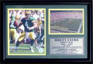 """Green Bay Packers 12"""" x 18"""" Brett Favre Photo Stat Frame"""