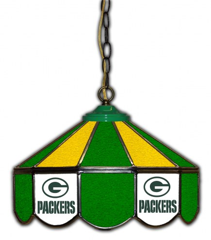 """Green Bay Packers 14"""" Glass Pub Lamp"""