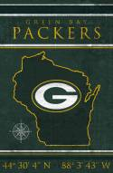 """Green Bay Packers 17"""" x 26"""" Coordinates Sign"""