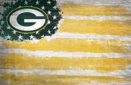 """Green Bay Packers 17"""" x 26"""" Flag Sign"""