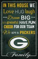 """Green Bay Packers 17"""" x 26"""" In This House Sign"""