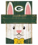"""Green Bay Packers 19"""" x 16"""" Easter Bunny Head"""