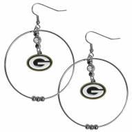 """Green Bay Packers 2"""" Hoop Earrings"""