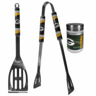 Green Bay Packers 2 Piece BBQ Set with Season Shaker