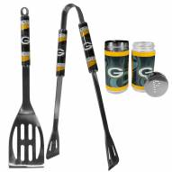 Green Bay Packers 2 Piece BBQ Set with Tailgate Salt & Pepper Shakers