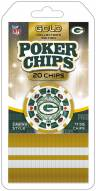 Green Bay Packers 20 Piece Poker Chips Set