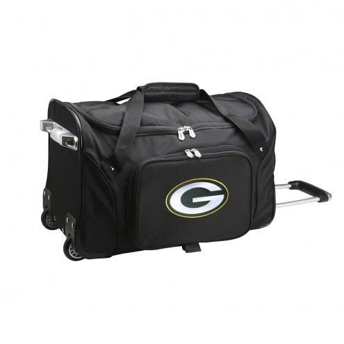 """Green Bay Packers 22"""" Rolling Duffle Bag"""