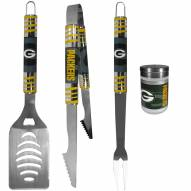 Green Bay Packers 3 Piece Tailgater BBQ Set and Season Shaker
