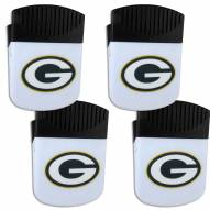 Green Bay Packers 4 Pack Chip Clip Magnet with Bottle Opener
