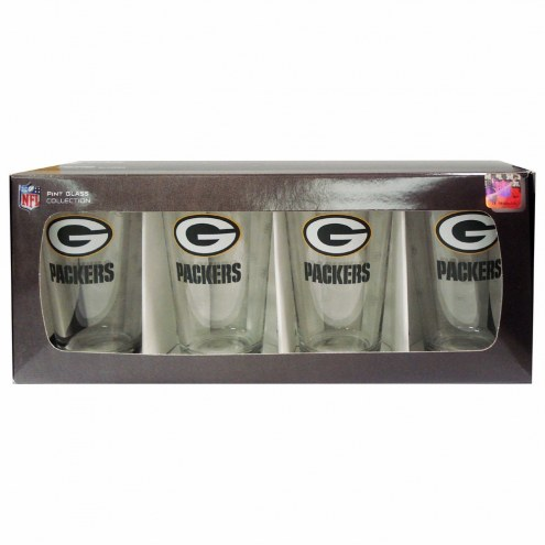 Green Bay Packers 4 Pack Pint Glass Set