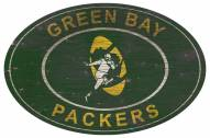 """Green Bay Packers 46"""" Heritage Logo Oval Sign"""