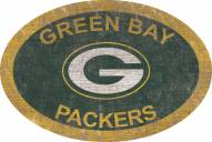 """Green Bay Packers 46"""" Team Color Oval Sign"""