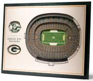 Green Bay Packers 5-Layer StadiumViews 3D Wall Art