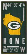 """Green Bay Packers 6"""" x 12"""" Coordinates Sign"""