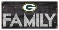 """Green Bay Packers 6"""" x 12"""" Family Sign"""