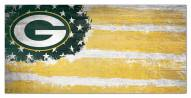 """Green Bay Packers 6"""" x 12"""" Flag Sign"""