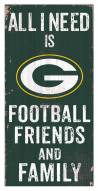 """Green Bay Packers 6"""" x 12"""" Friends & Family Sign"""