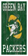 """Green Bay Packers 6"""" x 12"""" Heritage Logo Sign"""