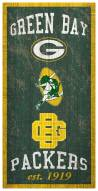 """Green Bay Packers 6"""" x 12"""" Heritage Sign"""