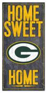 """Green Bay Packers 6"""" x 12"""" Home Sweet Home Sign"""