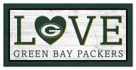 """Green Bay Packers 6"""" x 12"""" Love Sign"""