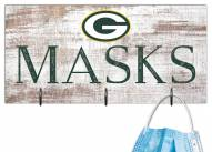 """Green Bay Packers 6"""" x 12"""" Mask Holder"""