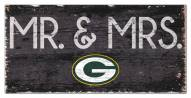 """Green Bay Packers 6"""" x 12"""" Mr. & Mrs. Sign"""