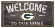 """Green Bay Packers 6"""" x 12"""" Welcome Sign"""