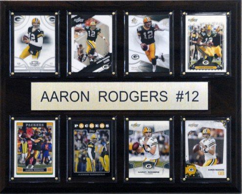 """Green Bay Packers Aaron Rodgers 12"""" x 15"""" Card Plaque"""