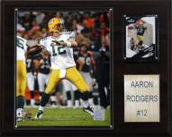 """Green Bay Packers Aaron Rodgers 12 x 15"""" Player Plaque"""