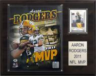 "Green Bay Packers Aaron Rodgers 2011 NFL MVP 12 x 15"" Player Plaque"