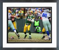 Green Bay Packers Aaron Rodgers Playoff Action Framed Photo